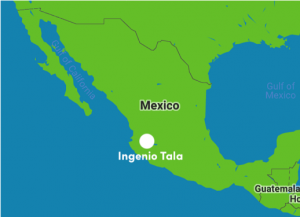Map of Tala mill in Argentina