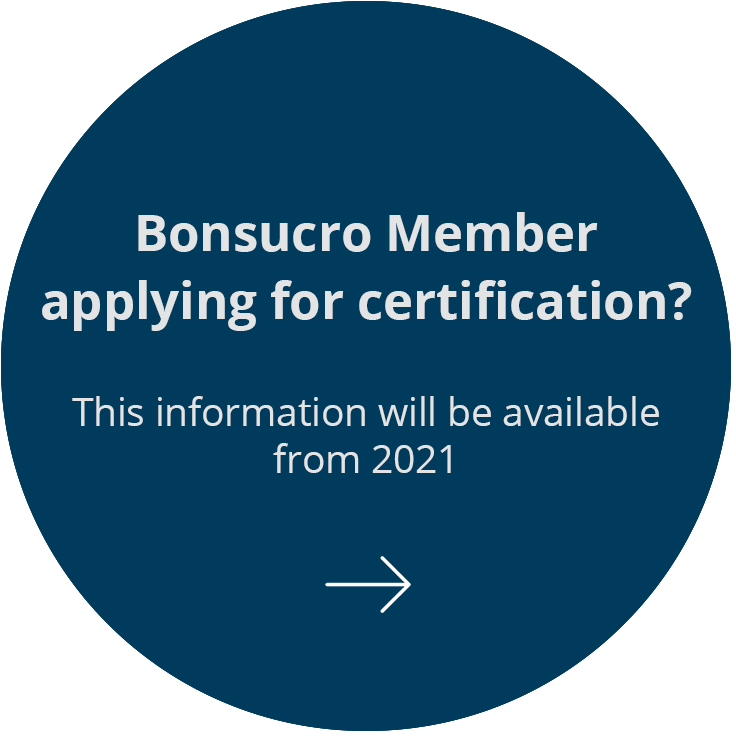 Bonsucro Member applying for certification?